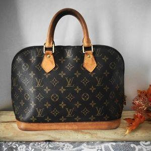 Large Authentic Louis Vuitton Alma PM Bag Satchel